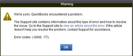 Quickbooks error code 6000 77