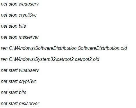 reset windows components