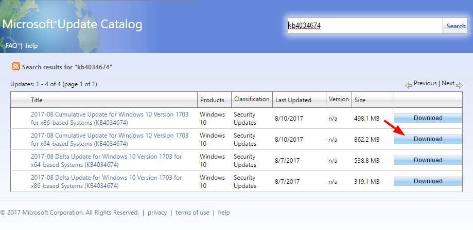 microsft windows catalog