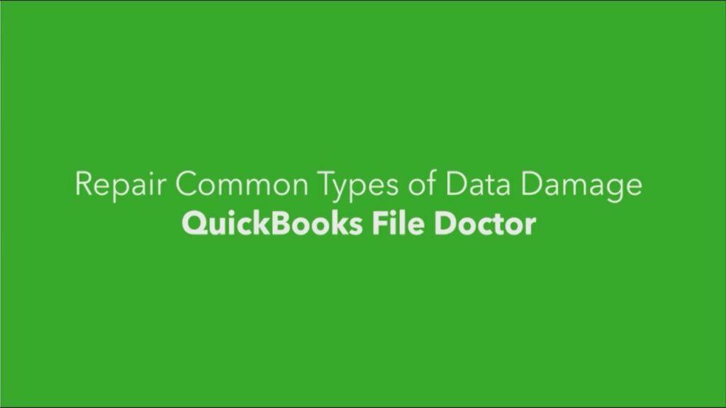 Quick books file doctor repair