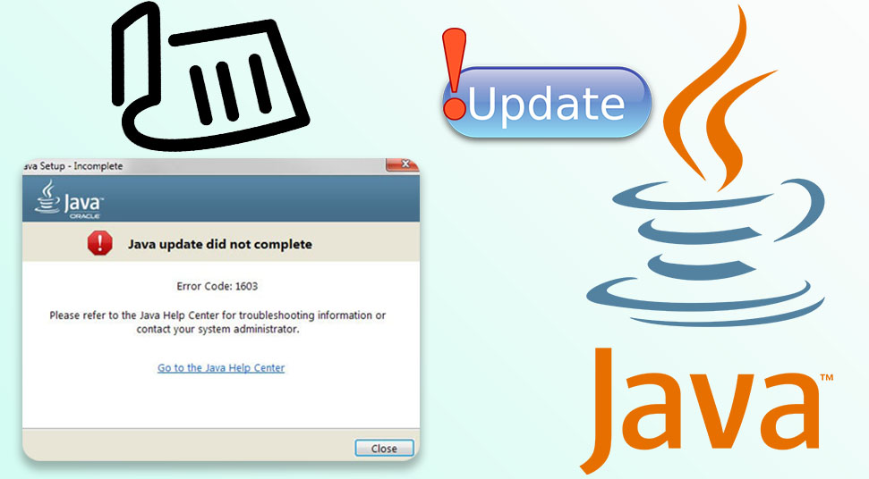 java update error 1603