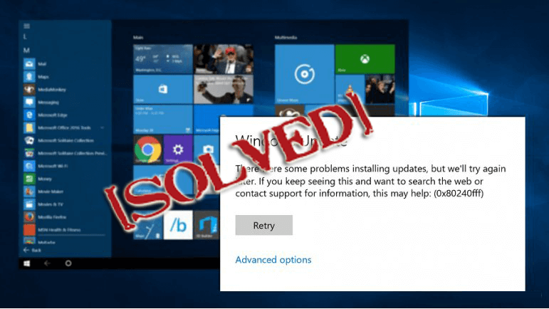 feature update to windows 10, version 1703 - error 0x80240fff
