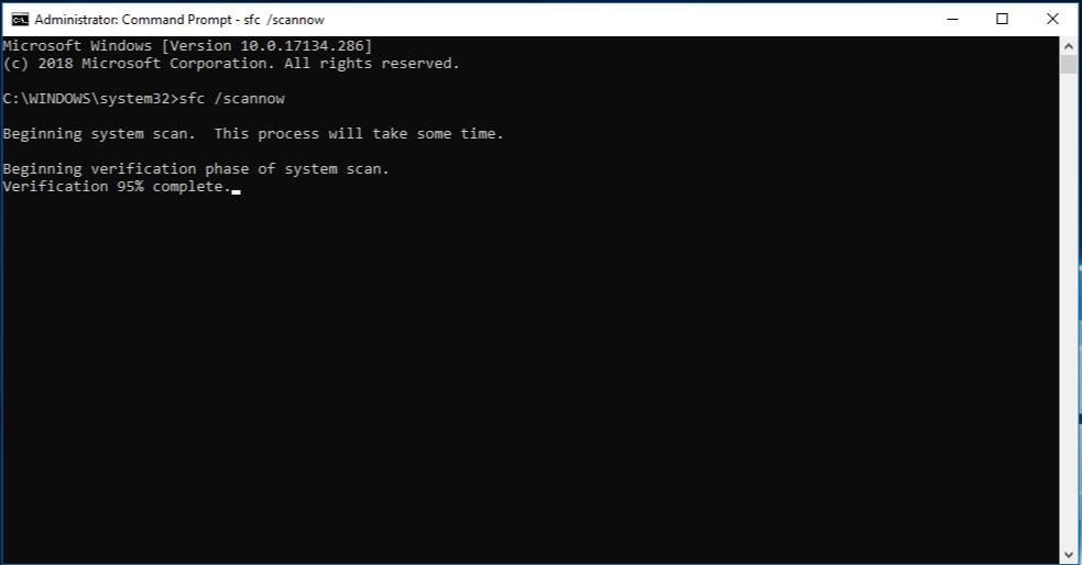 sfc scan windows update error 80244019 windows 7