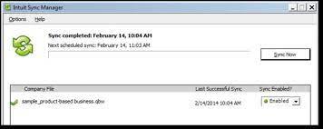 QuickBooks Sync Error Windows 10