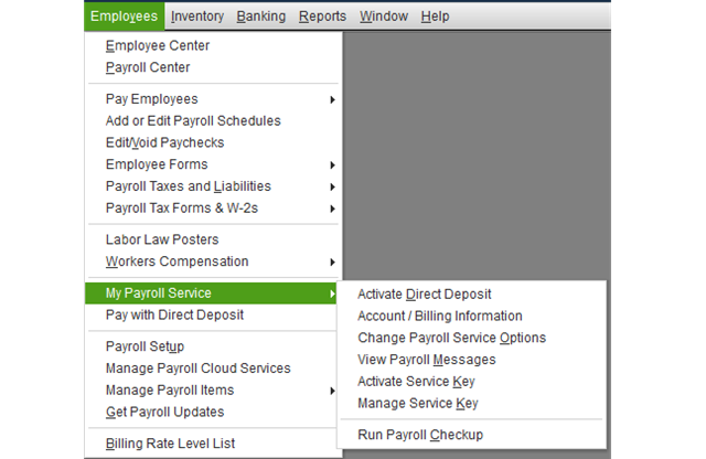 Modify the Quickbooks Payroll and Updates