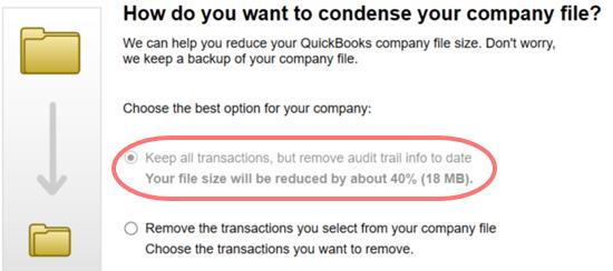 Condense the Files