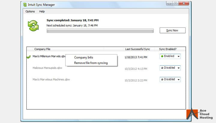 Reset the Intuit Sync Manager