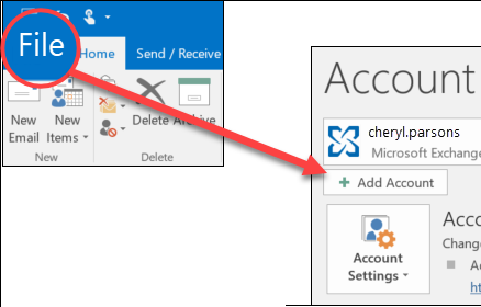 Add Outlook in Mail Account