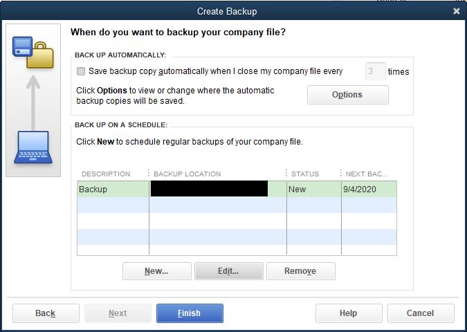 Backing up Multiple Data Files