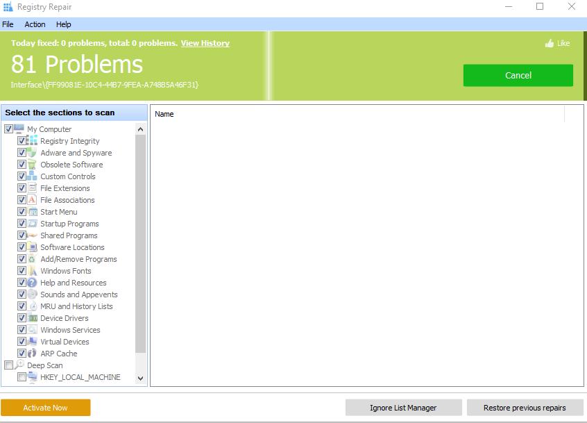 System Registry Repair