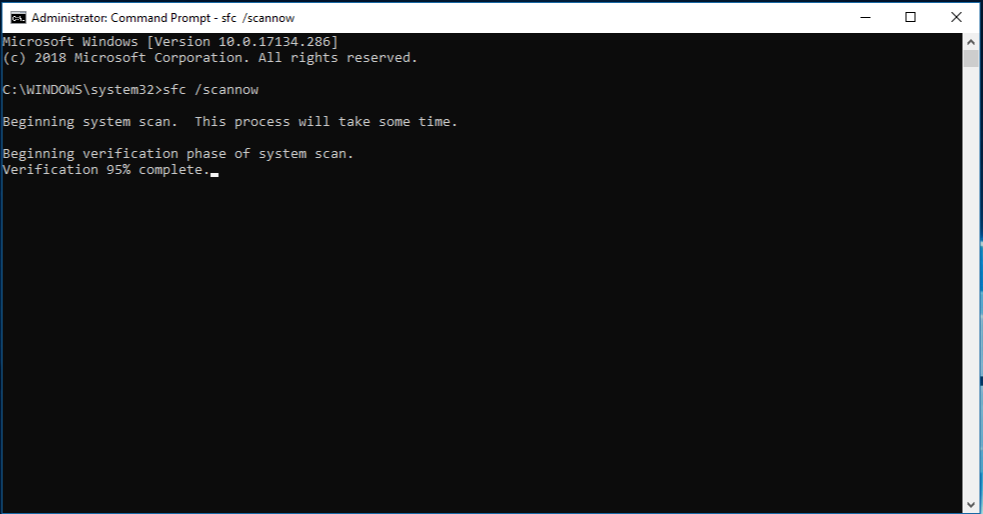 System File Checker (SFC) Scan