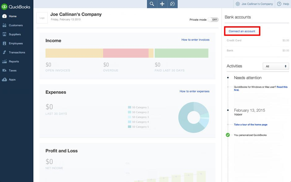 Link Your Bank Account with QuickBooks