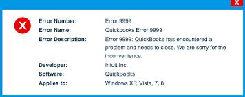 QuickBooks Online Error 9999 Message