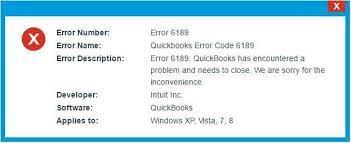 Quickbooks Error 6189 and 816 Message