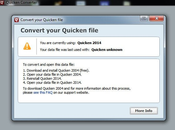 Quicken to Quickbooks