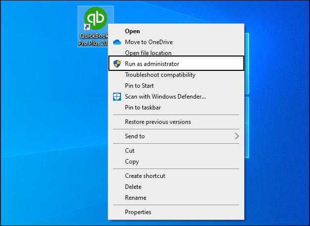Setting QuickBooks as an Admin