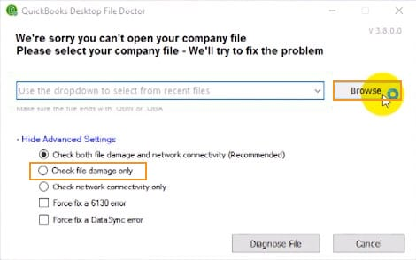 QuickBooks File Doctor (QBFD)