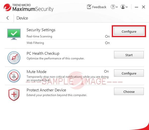 Configure the Trend Micro Antivirus Settings