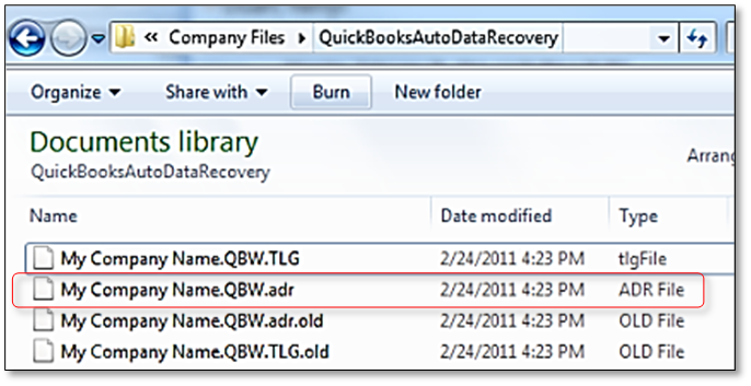 Renaming.ADR file as a QBs Working File