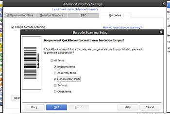 QuickBooks POS Scanner for Inventory Interface