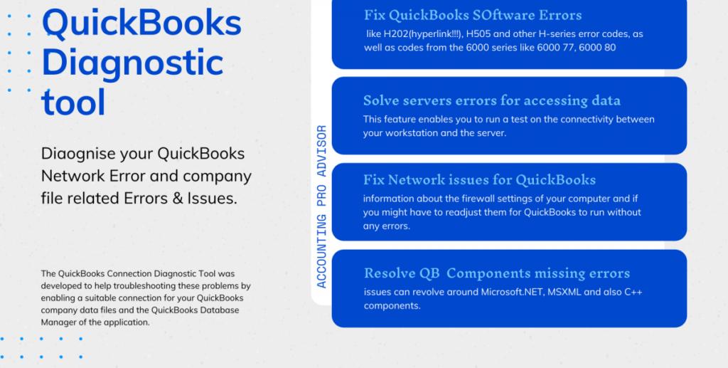 QuickBooks Diagnostic Tool Uses
