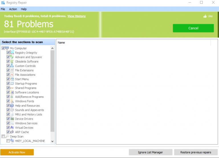 Windows Repair Registry Use