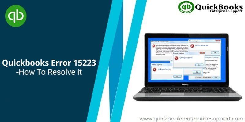 Quickbooks update error 15223