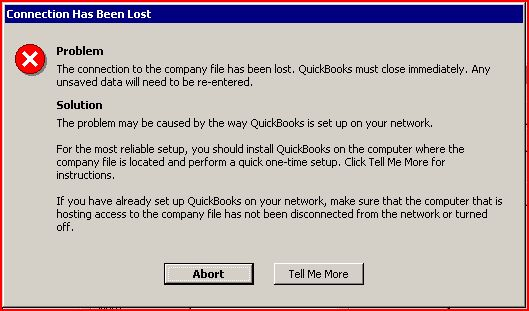 Quickbooks keeps aborting
