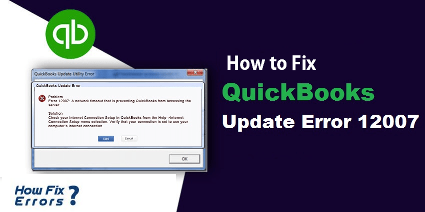 error 12007 Quickbooks