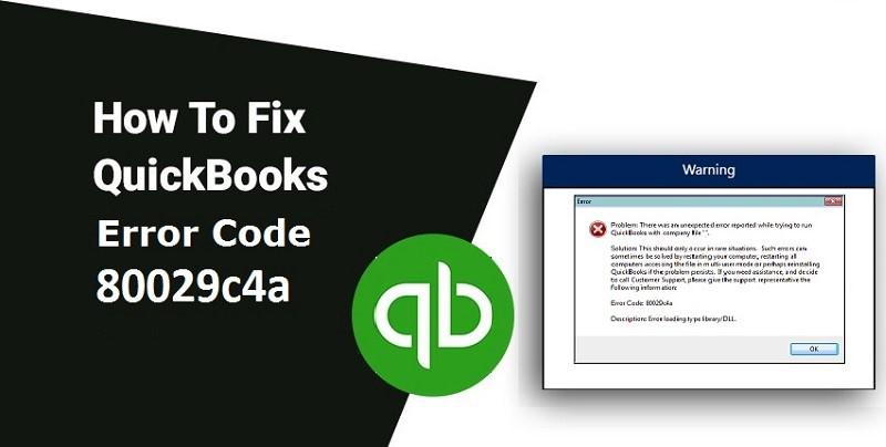 Quickbooks 2015 error code 80029c4a