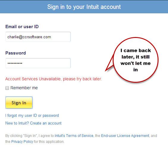 quickbooks email login has changed error