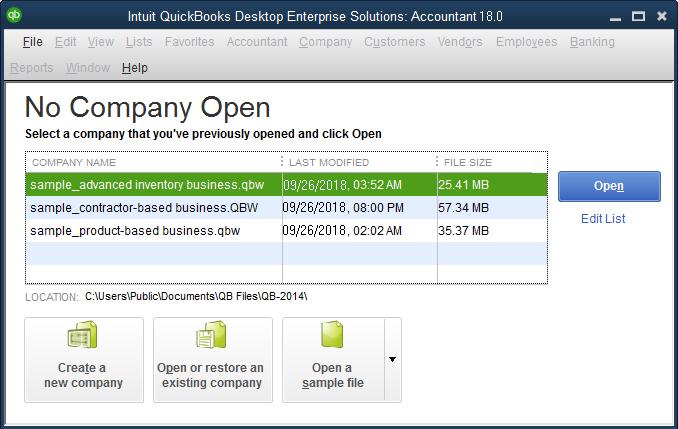 quickbooks 2021 won't open